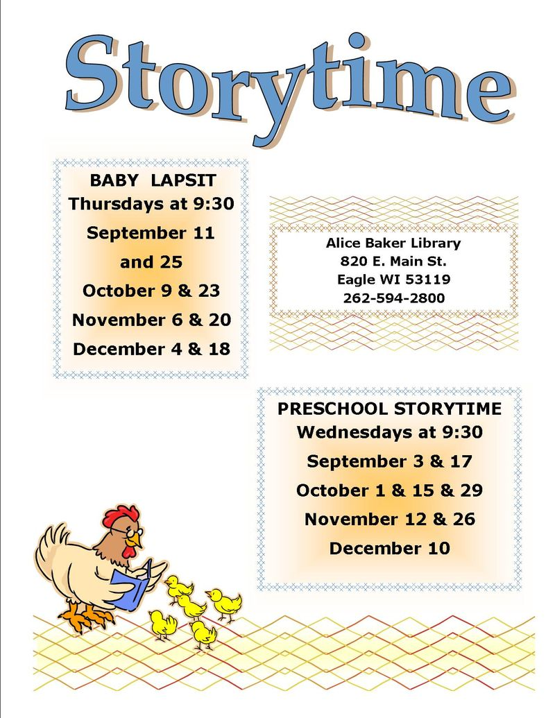 Storytime fall 2014