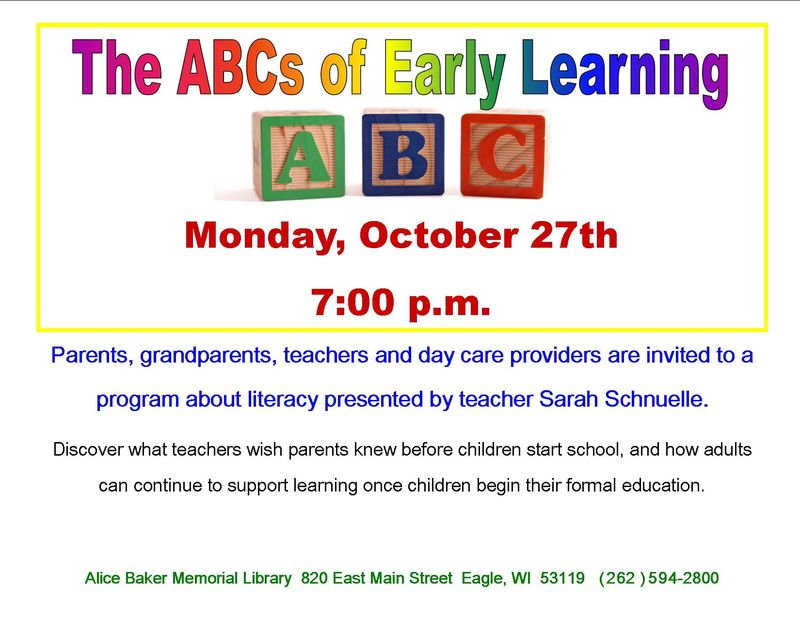 Abc of early learning