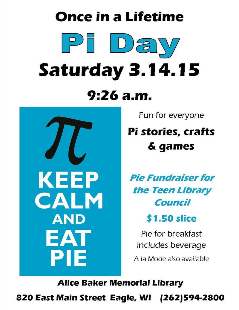 Pi day 3.14.15