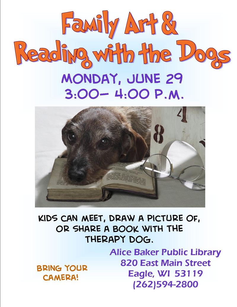 Art and read with the dogs