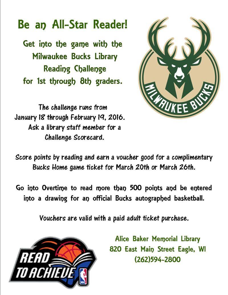 Bucks reading challenge 2016