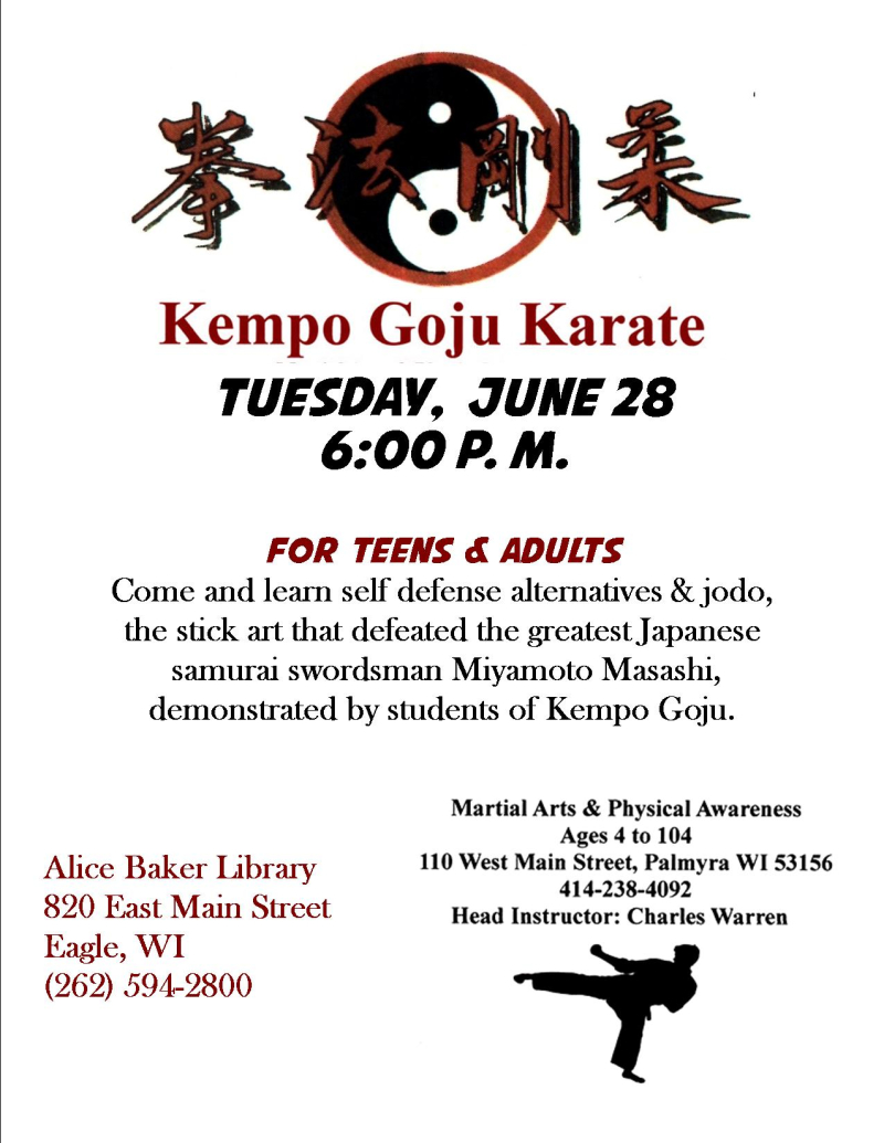 Kempo goju karate demo self defense jodo