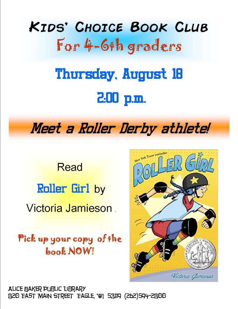 Kids choice book club 2016