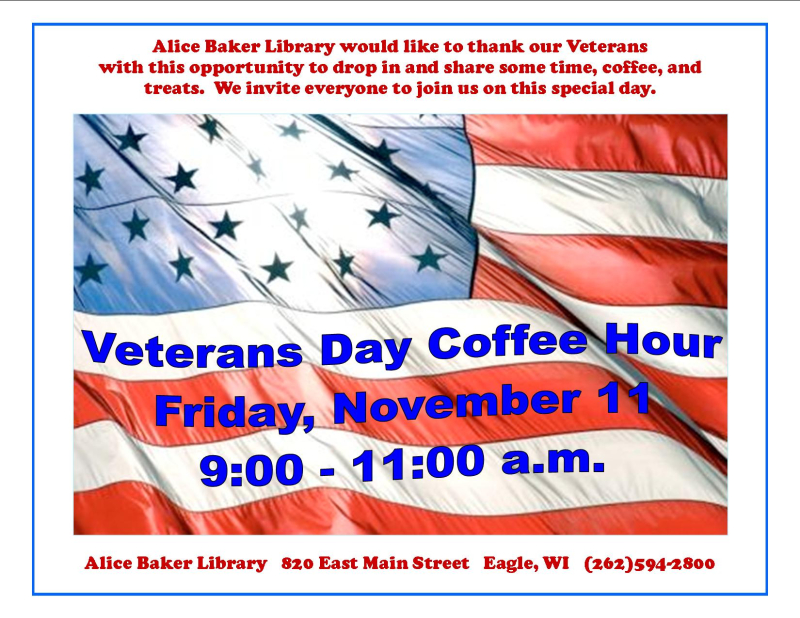 Veterans day coffee hour