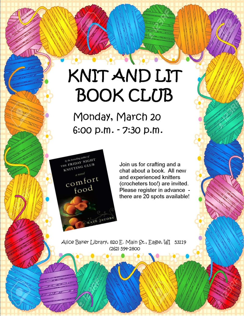 Knit and Lit March 2017