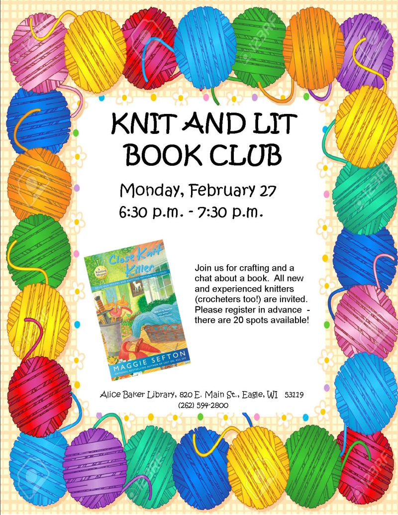 Knit and Lit February 2017