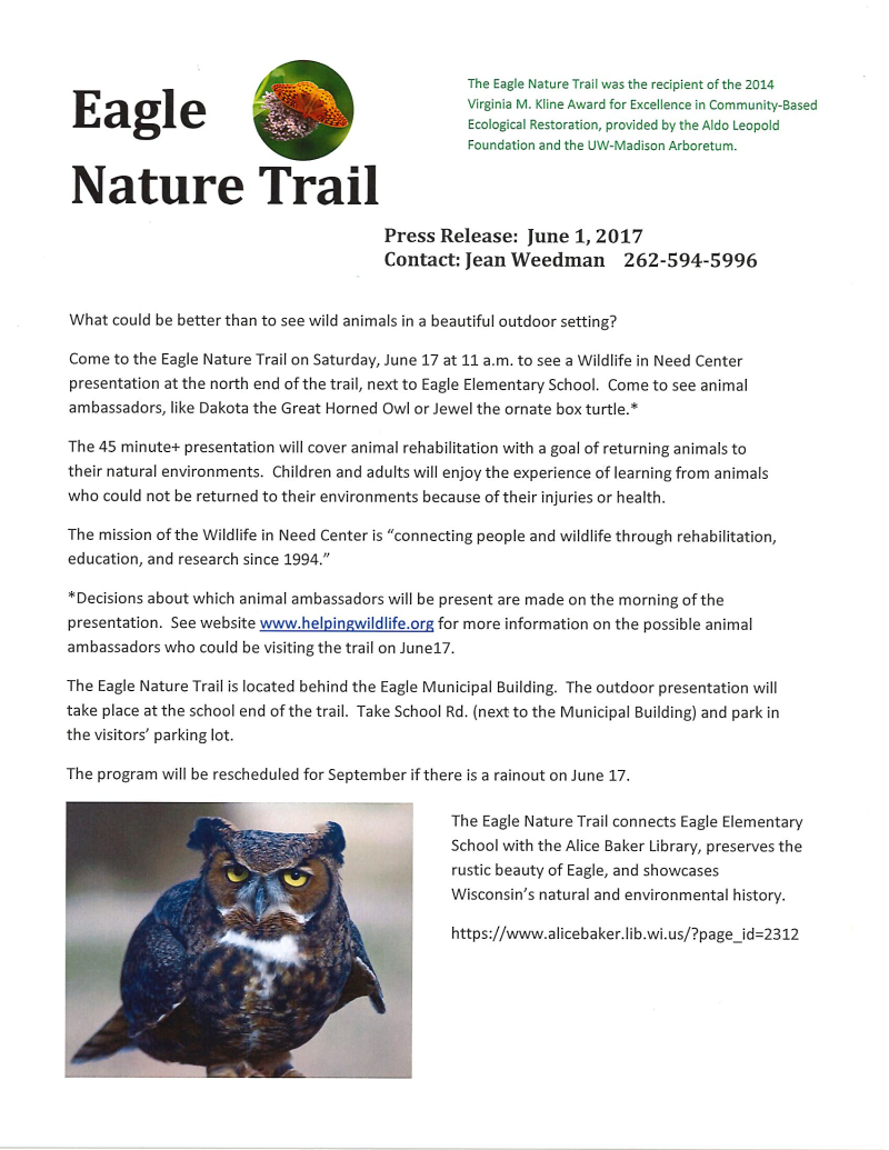 Eagle Nature Trail program