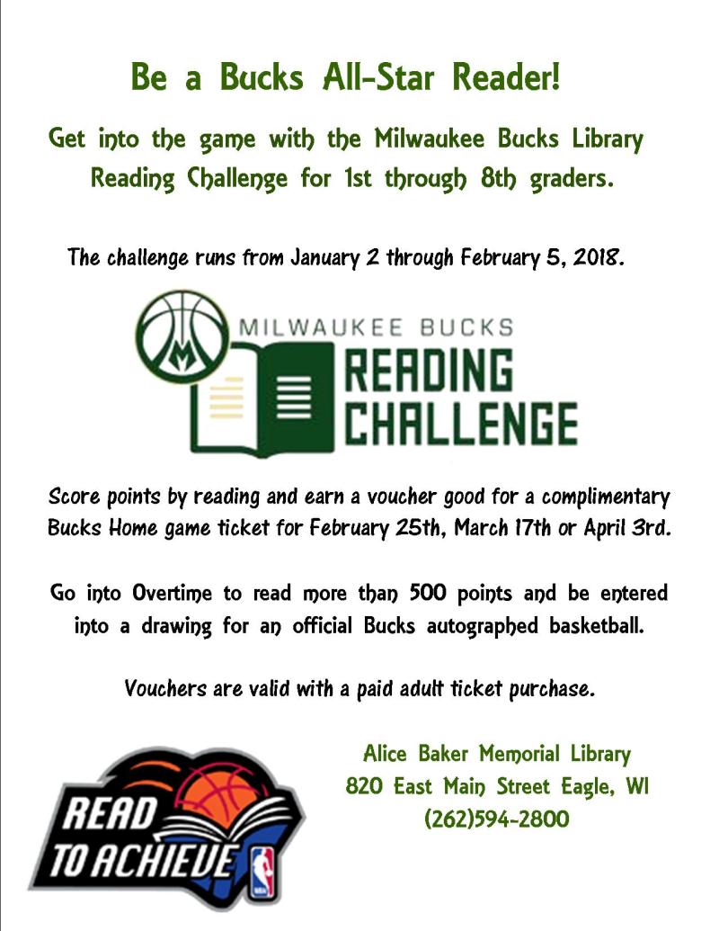 Bucks reading challenge 2017