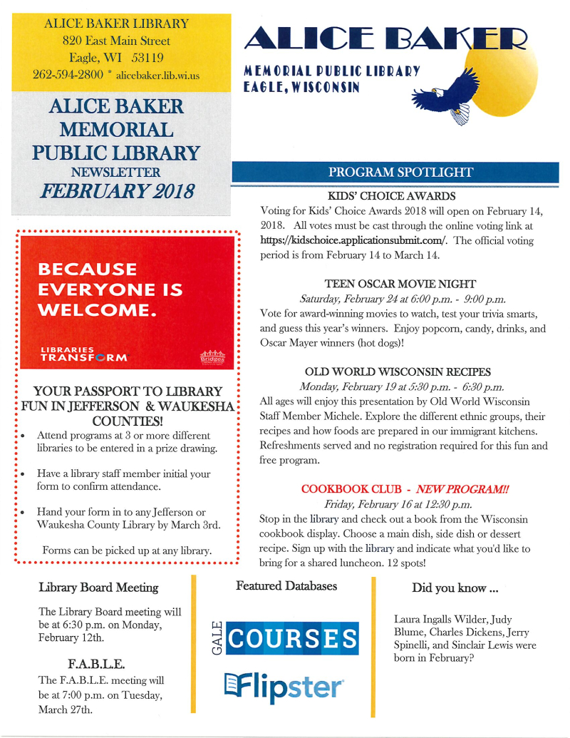 FEB newsletter page 1