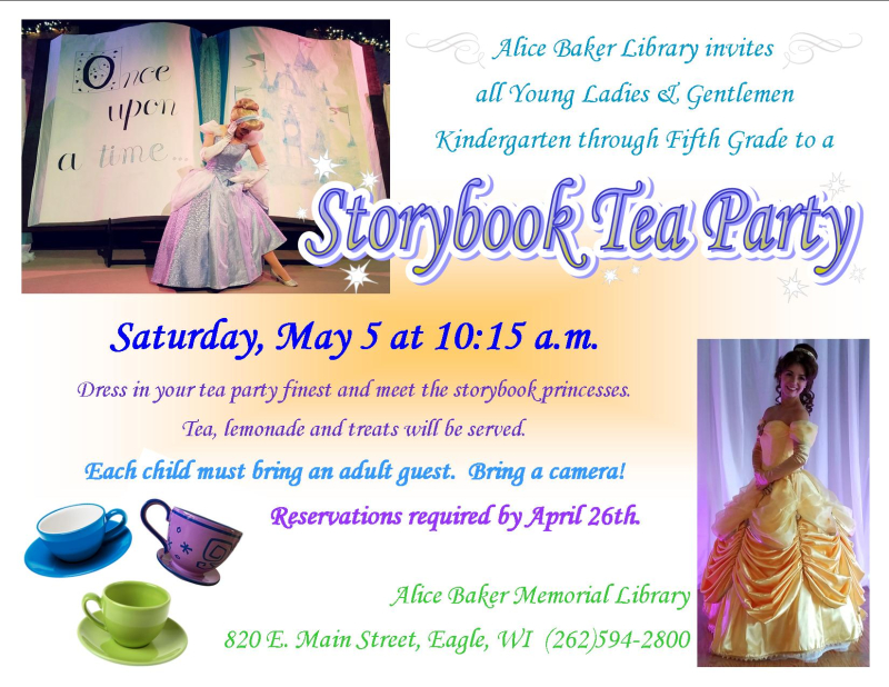 Storybook tea party with princesses v2