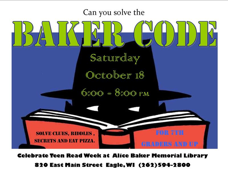 Teen read week baker code