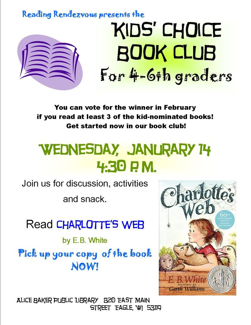 Kids choice book club 2014-15