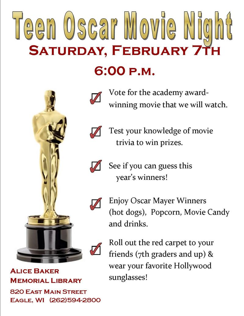 Teen winter blahs oscar night 2015