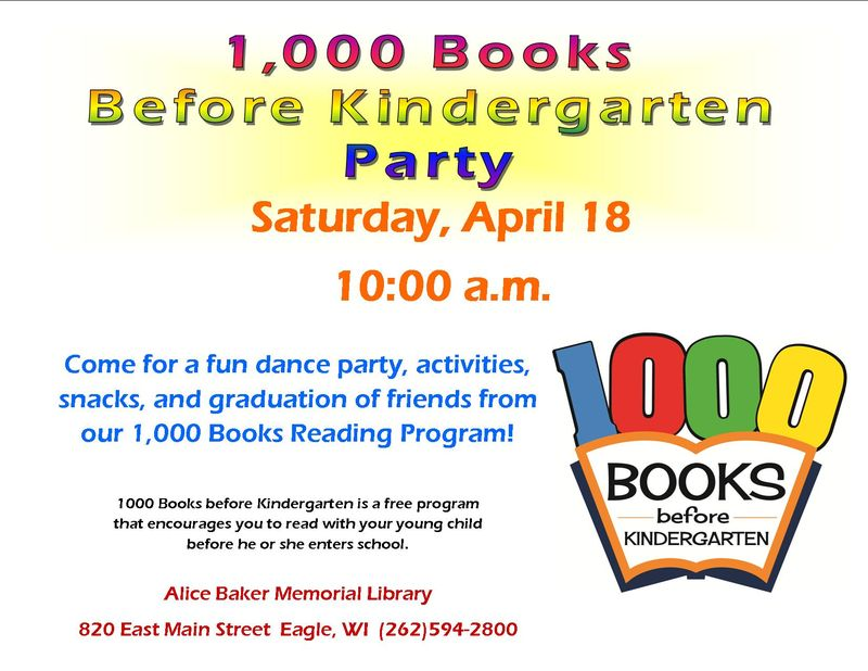 1000 Books party and graduation