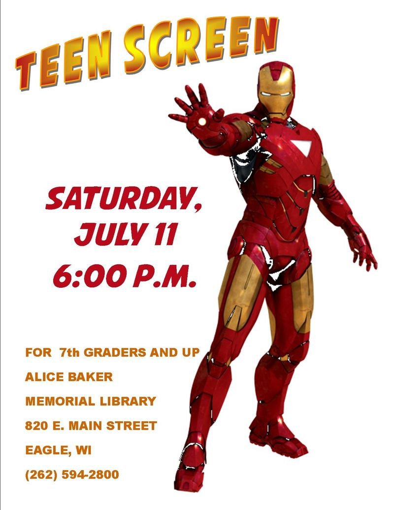 Teen screen IRON MAN