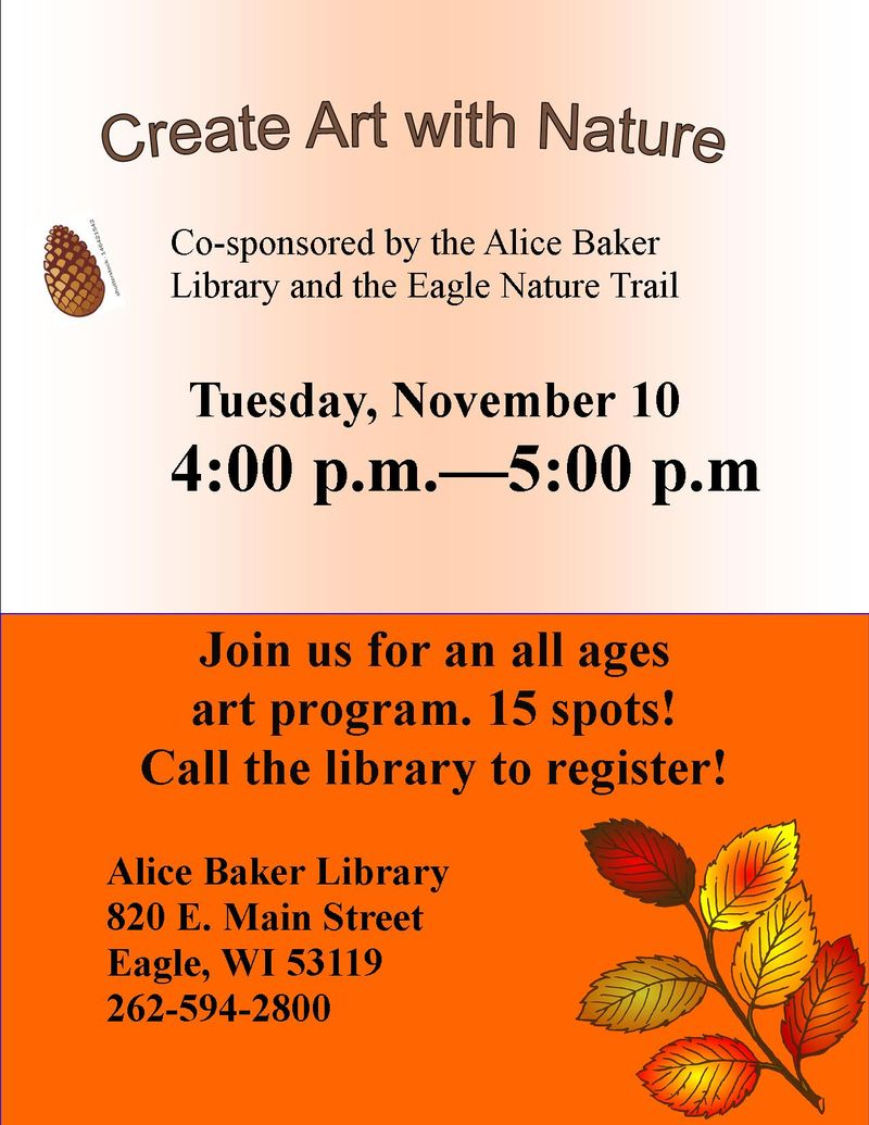 Create Art with Nature (November)