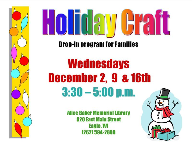 Holiday drop in craft