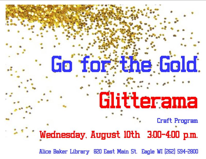 Go for the gold glitterama