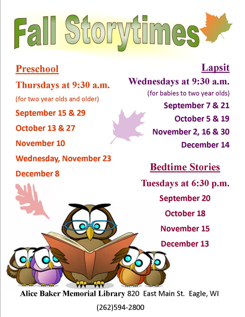 Fall storytime 2016