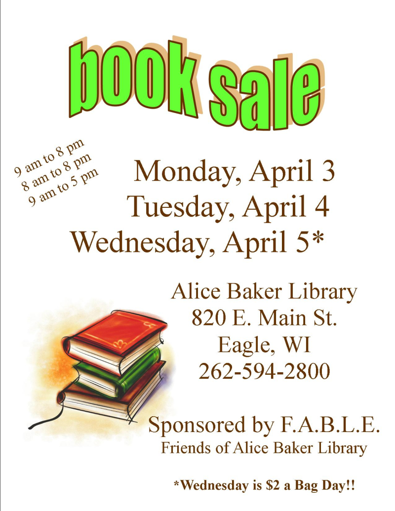 Book Sale Spring 17