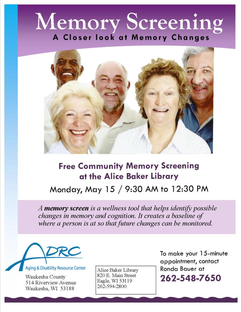 Memory Screening Poster 2017