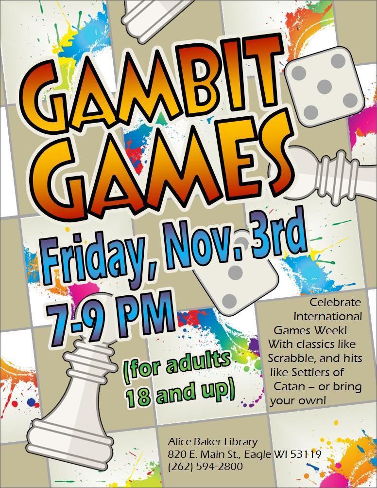 Gambit Games (International Games Week) FINAL