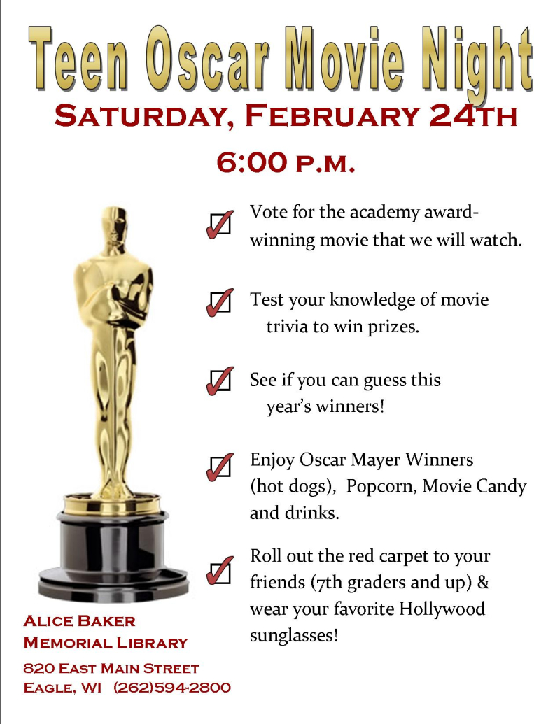 Teen winter blahs oscar night