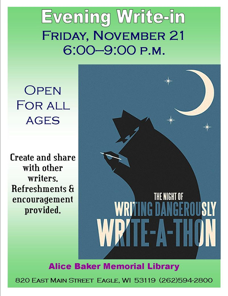 Nanowrimo 2014 write in
