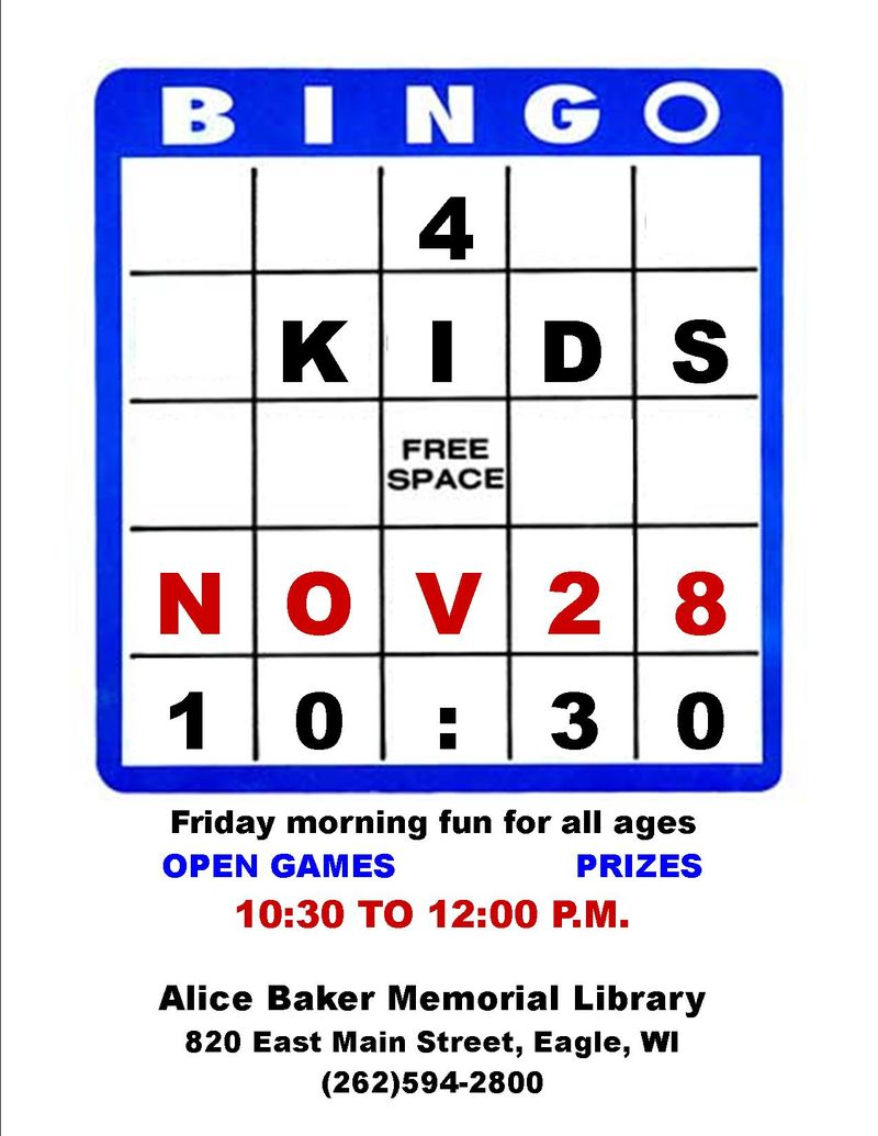 KIDS BINGO OPEN GAMES