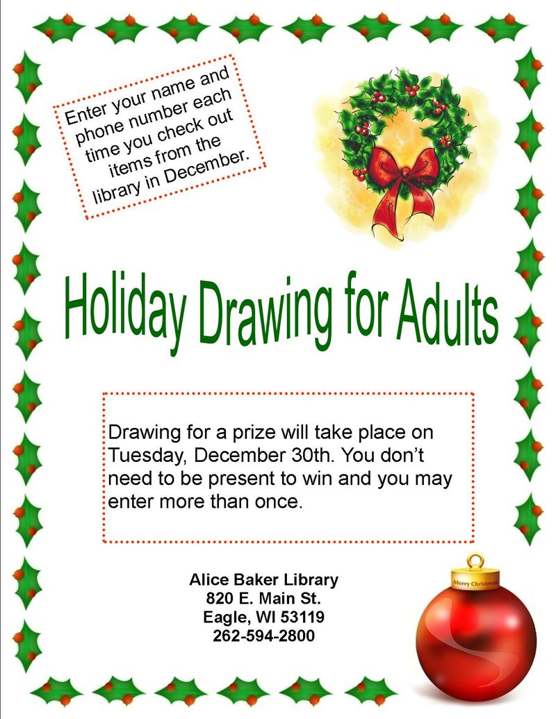 Adult Holiday Drawing