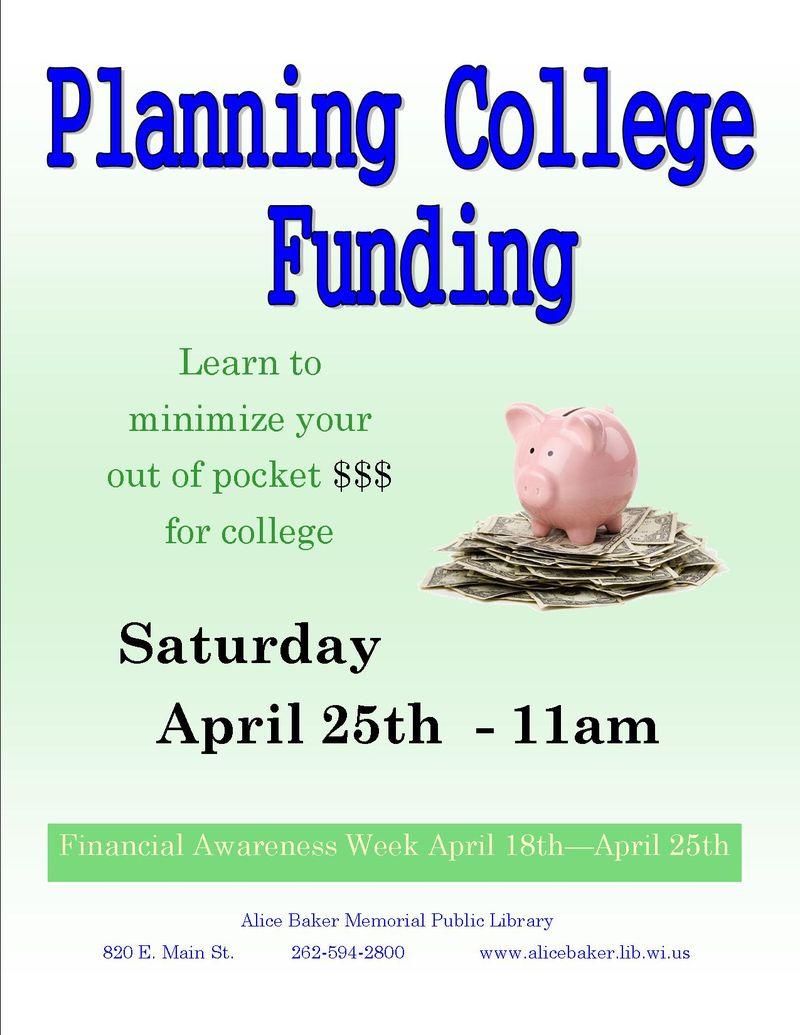 2015 college funding