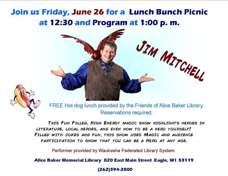 Lunch bunch Jim Mitchell