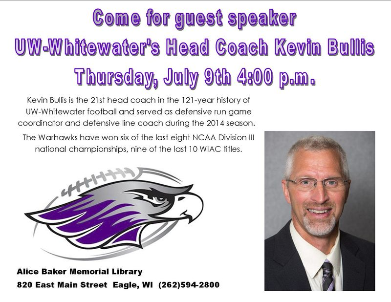 Football hero speaker kevin bullis