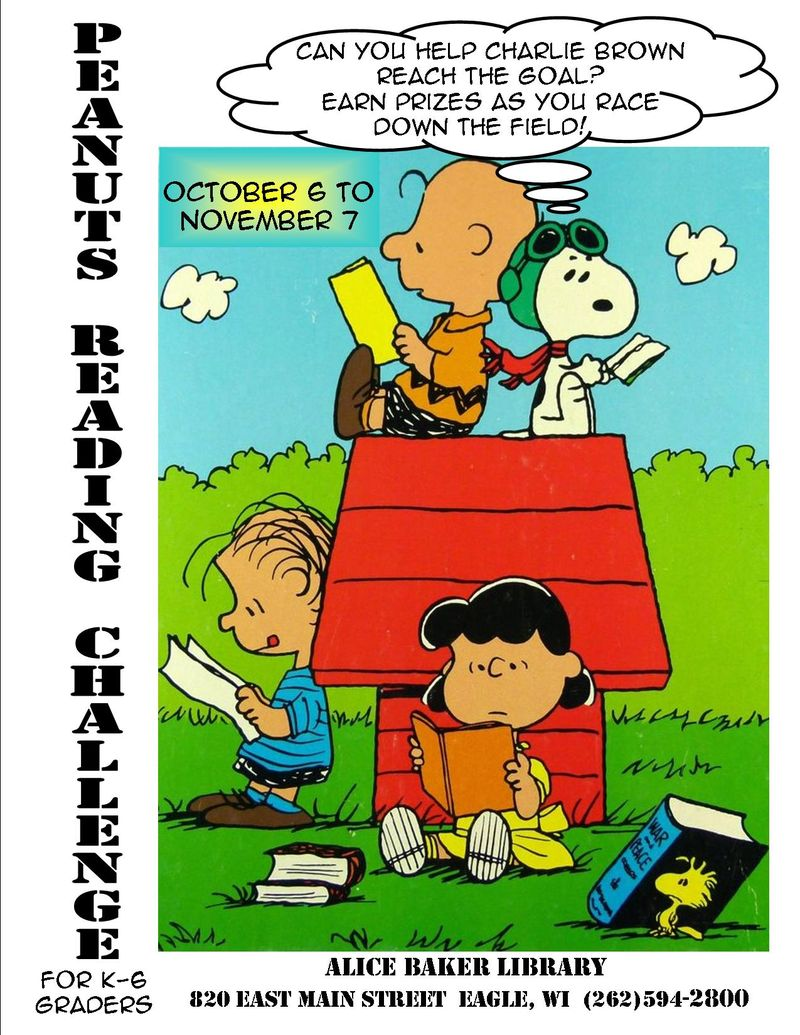 Peanuts reading poster