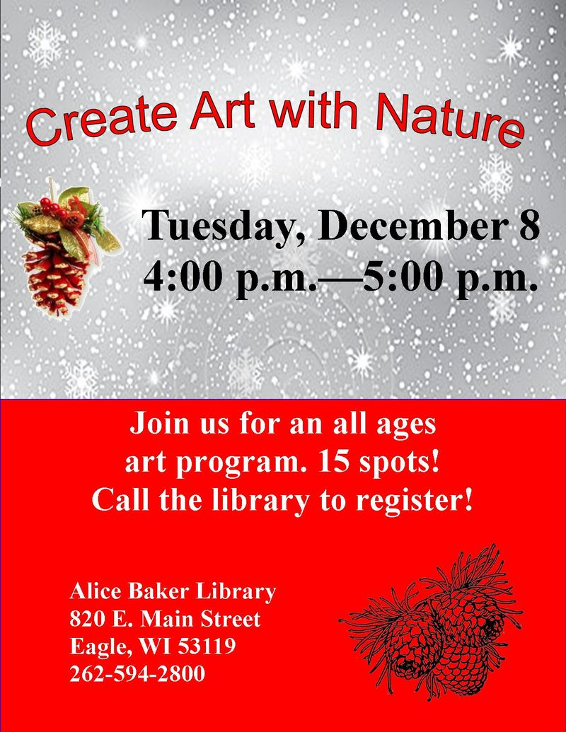 Create Art with Nature (December)