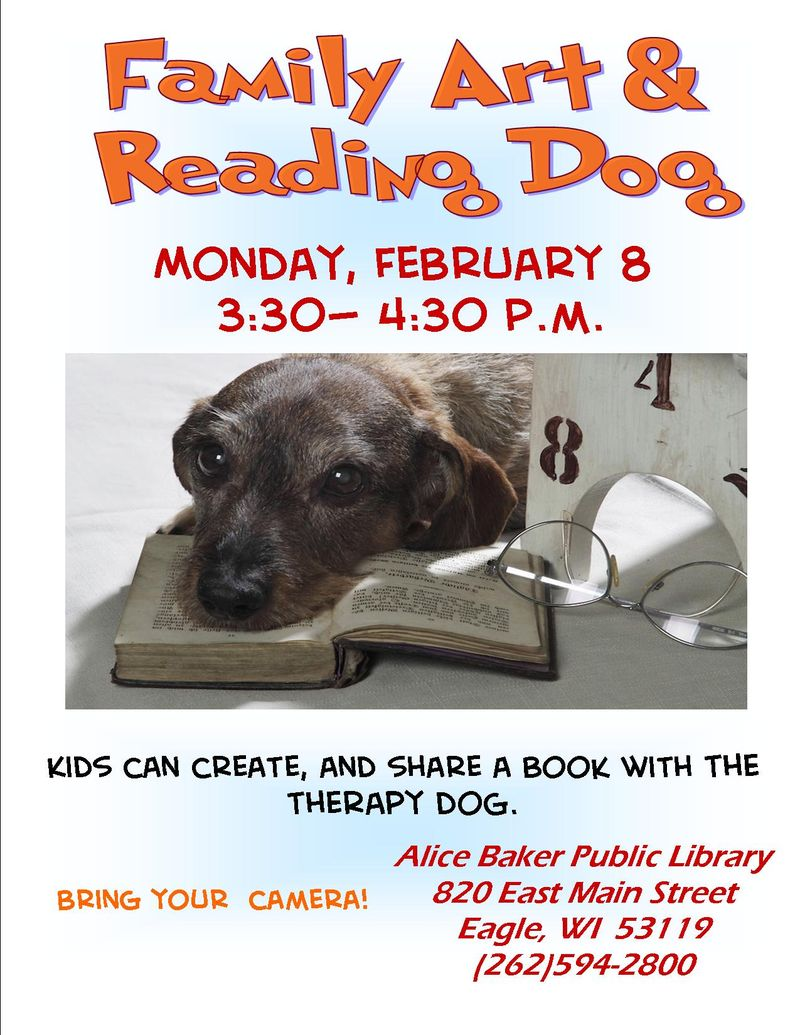 Art and read with the dog