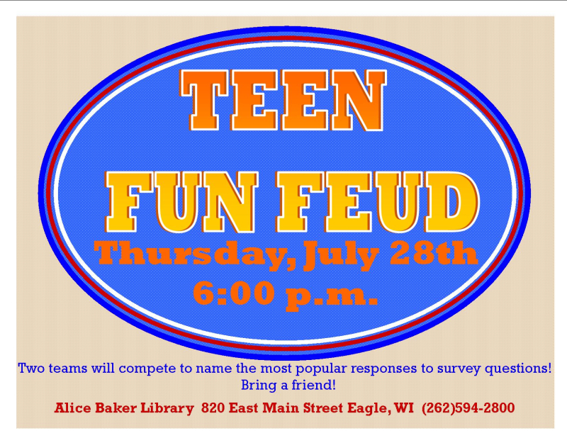 Teen Fun Feud