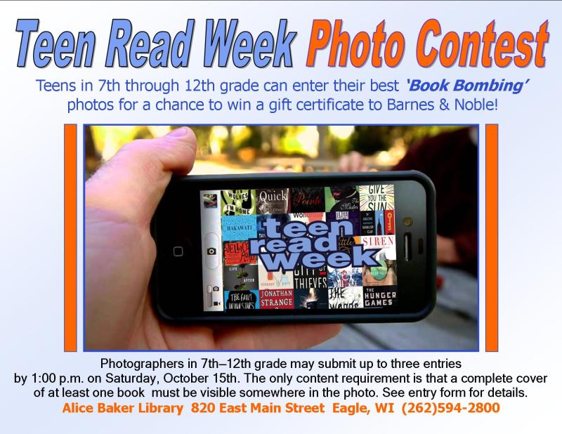 Teen book bombing contest