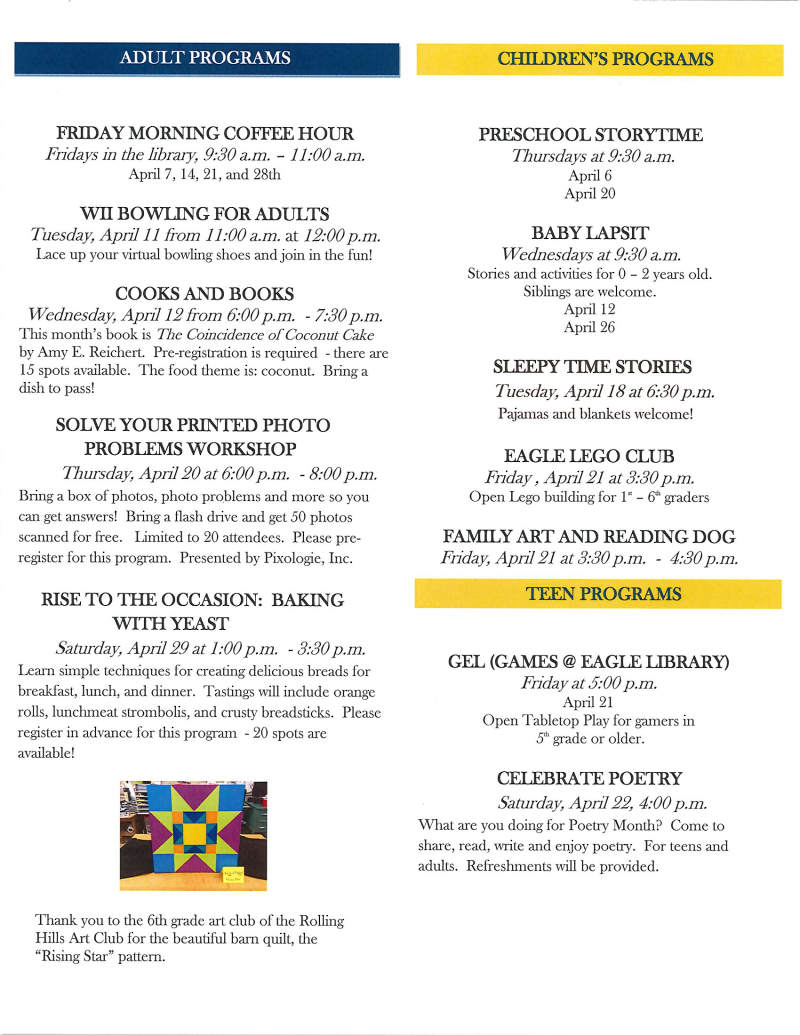 April 2017 library newsletter page 2