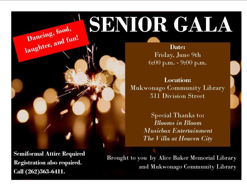 Senior Gala Flyer