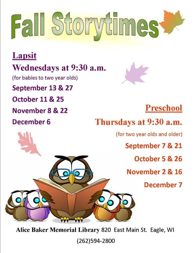 Fall storytime 2017