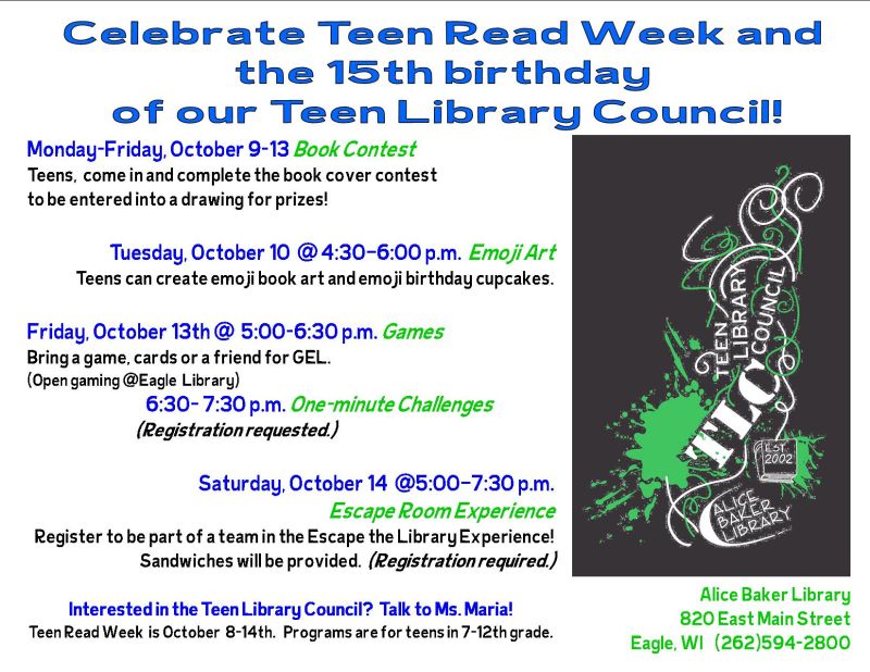 Teen read week 17