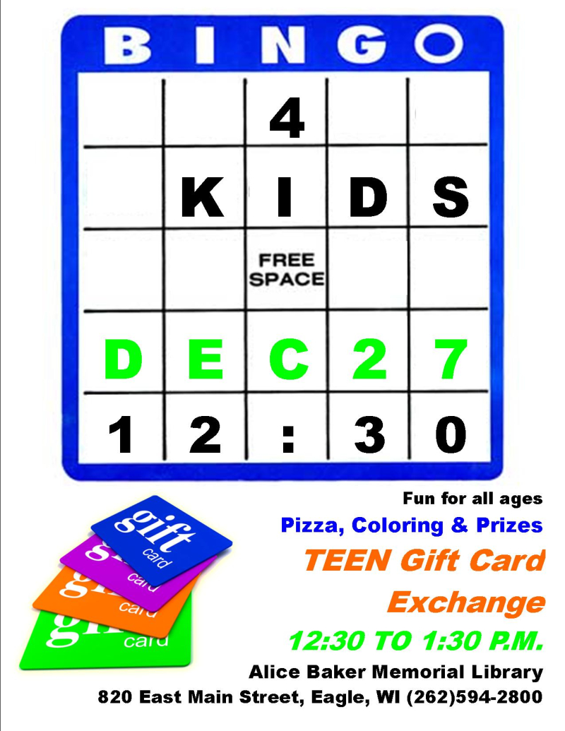 KIDS BINGO holiday