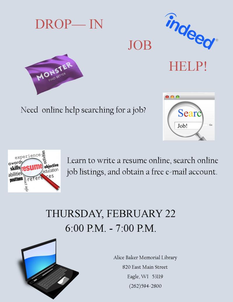 Drop in Job Help FEB