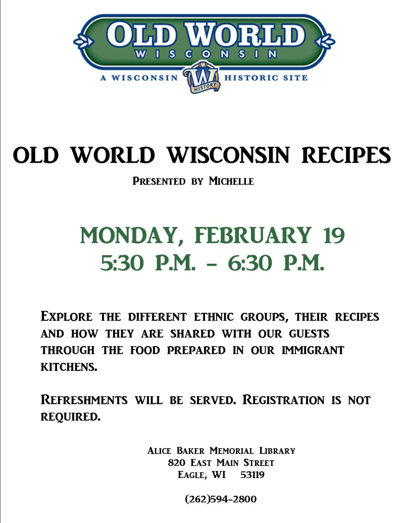 Old World Recipes