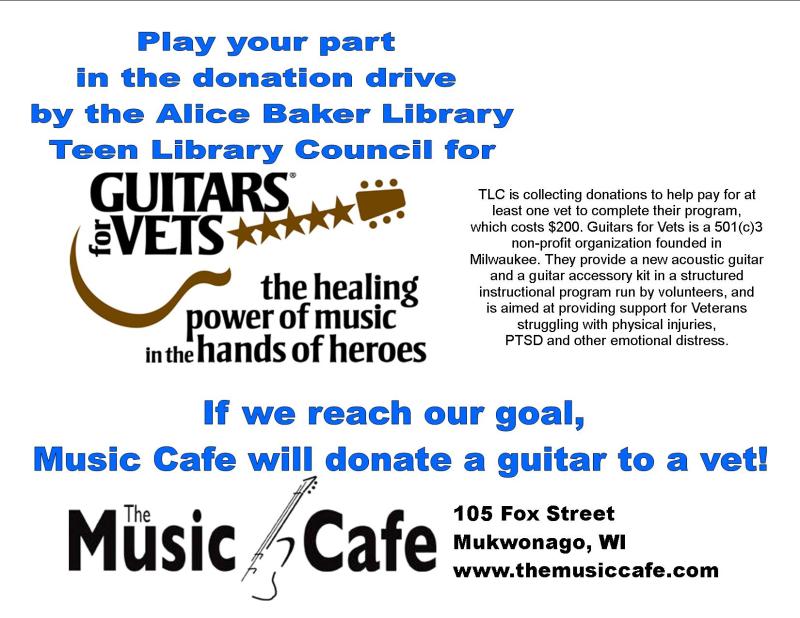 Guitars for vets donation