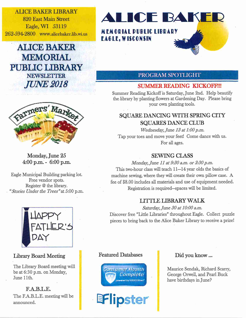 June newsletter page 1