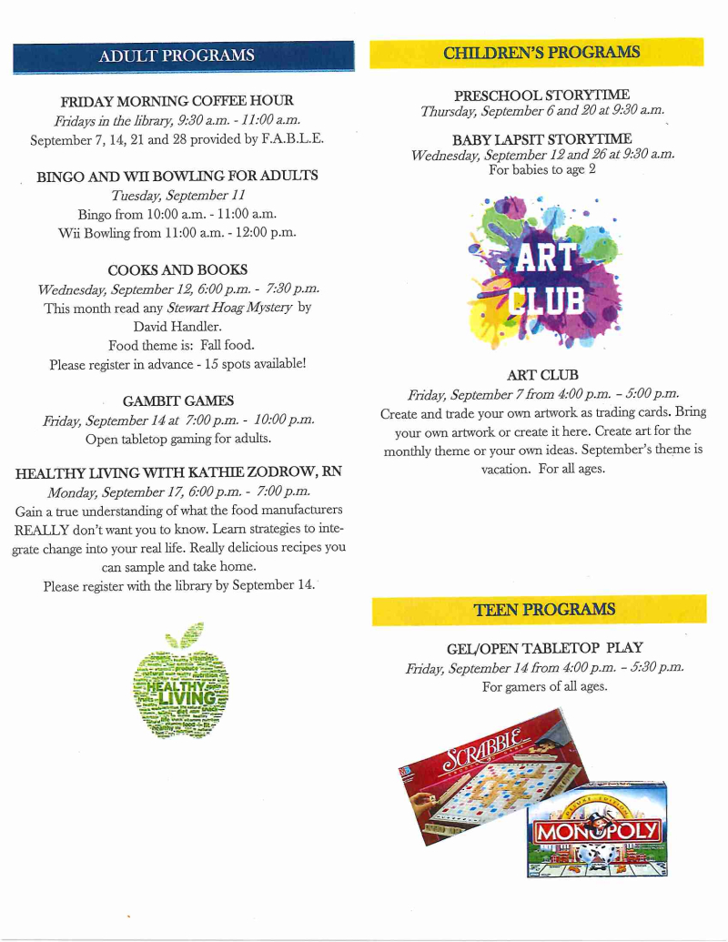 Library newsletter September 2018 page 2