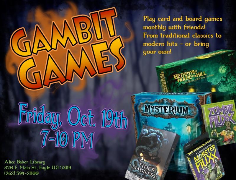 Gambit Games 10-19-18