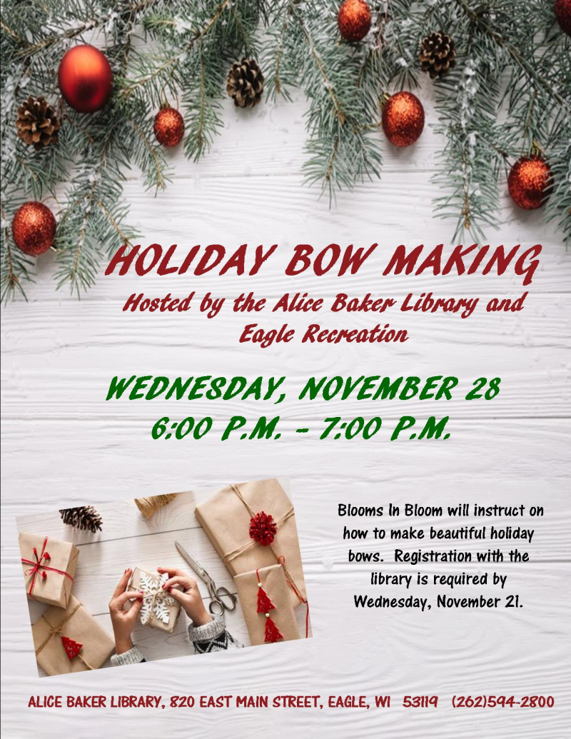 Holiday Bow Making
